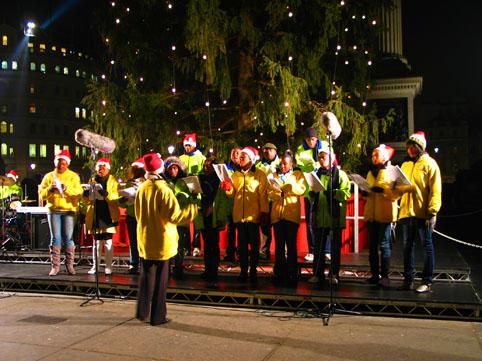 การร้องเพลงคริสต์มาส